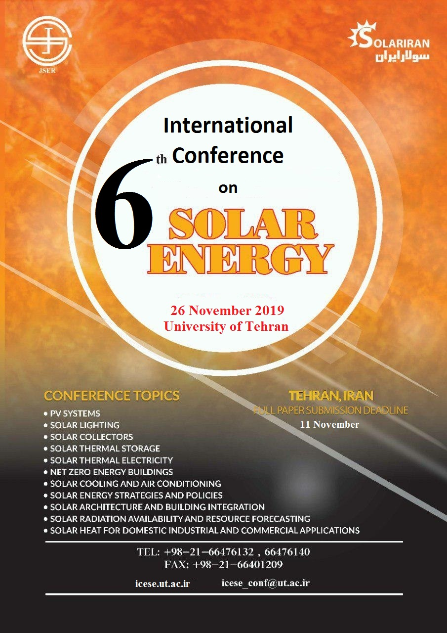 6th International Conference on Solar Energy